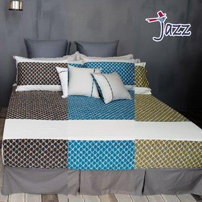 《40支紗》雙人特大床包【共3色】Jazz 100%精梳棉-麗塔寢飾-