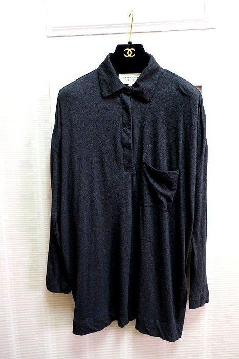 *Beauty*DEMYLEE(NEW YORK)男士深灰色長袖薄棉POLO衫M號2000元IR