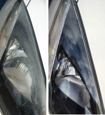 大燈快潔現場施工 Mazda 馬自達 MAZDA2 馬自達2 原廠車大燈泛黃霧化拋光修復翻新處理