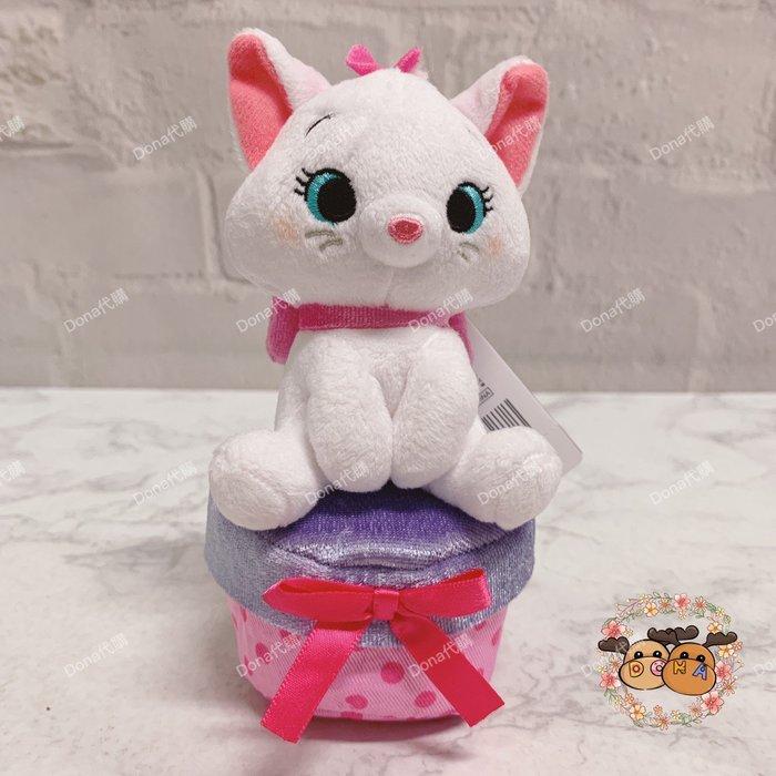 【Dona代購】日本迪士尼store限定 瑪麗貓坐在禮物盒上 吊飾/包包掛飾(下面禮物盒可以放小物唷) B10