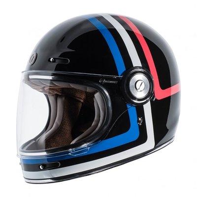 【魔速安全帽】2018 新款 美國 TORC T1 AMERICAN TRON 復古帽 樂高帽 全罩 安全帽 亮黑