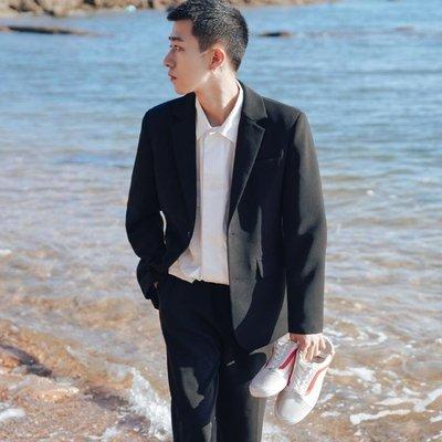 2018秋季新款氣質純色小西裝男士休閒西服上衣修身韓版外套潮衣服