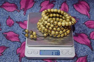 沉香 佛珠【木之緣】印尼~加亞布拉 沉香佛珠 手串8mm/108顆(編號02)