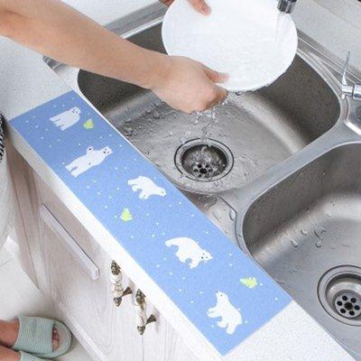 ☜shop go☞ 自黏貼 吸水貼 吸濕 貼紙 廚房 檯面 浴室 洗漱台 廁所 洗手 印花 水槽 防水貼 【J006】