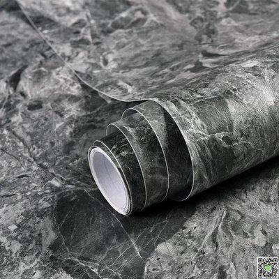 防油壁貼 自粘灰色啞光大理石貼紙廚房防油墻紙衛生間墻貼加厚灶臺防水廁所 MKS精品生活