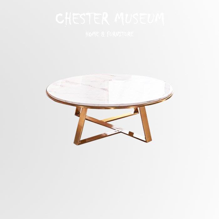 北歐大理石大型客廳桌子 大理石金色咖啡桌 北歐風金色邊桌 北歐風 金色 邊桌 茶几 小圓桌 賈斯特博物館