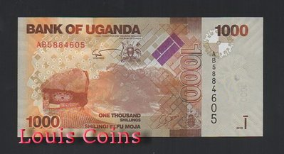 【Louis Coins】B519-UGANDA--2010烏干達紙幣1.000 Shillings