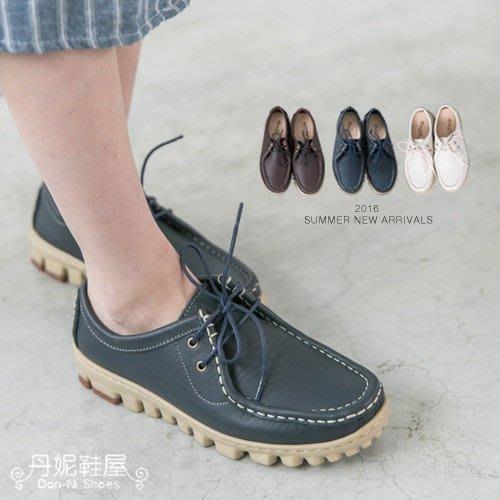 休閒鞋 戶外休閒繫帶真皮MODO袋鼠鞋 水洗皮革 可機洗  MIT台灣手工鞋 丹妮鞋屋