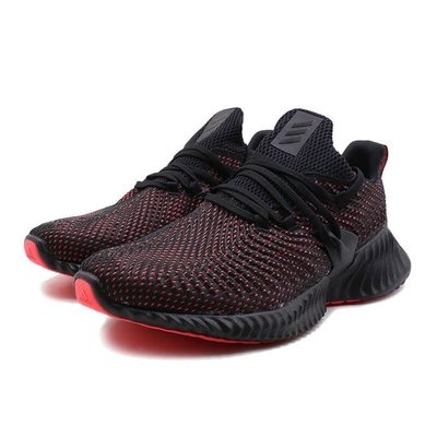 Adidas AlphaBounce Instinc 男鞋 黑紅 慢跑鞋 愛迪達 黑色 運動 休閒 D96536 YTS