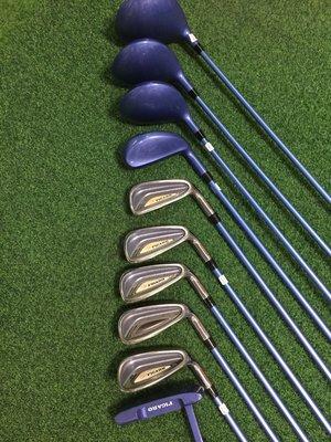 [客人寄賣] [二手專賣區] 請詳圖片 maruman FIGARO Clubs 女用高爾夫球具組L 3木1雞腿5鐵1推