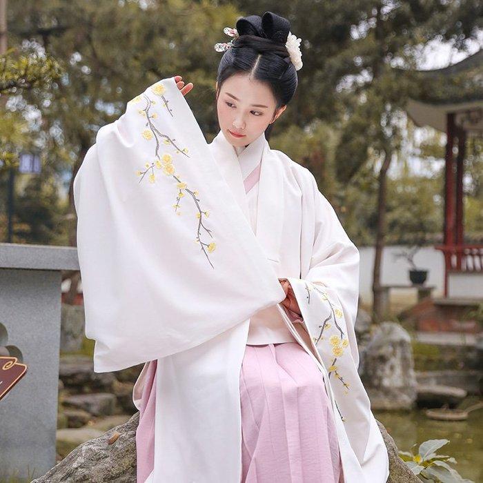 暗香 原創設計日常漢服女繡花披風傳統禮服外套冬裝單品
