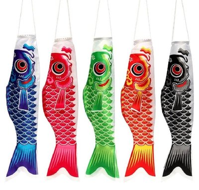 日本鯉魚旗【NF575】多款 日式和風魚旗 風向旗 鯉魚幡 5色可選 旗飄 車隊 露營佈置 會場佈置