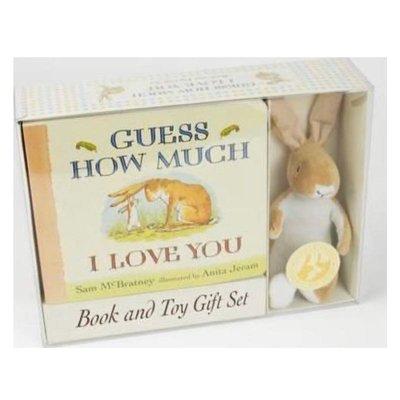 現貨《童玩繪本樂》GUESS HOW MUCH I LOVE YOU 猜猜我有多愛你 布偶禮盒 交換禮物 兔子手偶 布偶