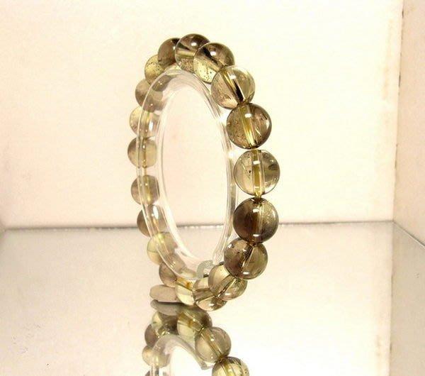 小風鈴~天然高檔茶黃晶 黃水晶手珠~淨重27.8g 財運石