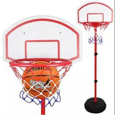 【2.6米籃架配39cm籃筐配2球-1套/組】兒童籃球架大號籃筐室內可升降調節-5670709