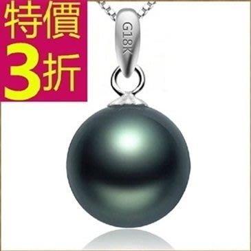 珍珠項鍊 孔雀綠13mm-生日情人節禮物美麗典雅女性飾品53pe19[獨家進口][米蘭精品]