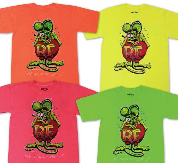 (I LOVE樂多)原版RAT FINK RF老鼠芬克鮮艷系短袖T恤 4種顏色供你購買選擇