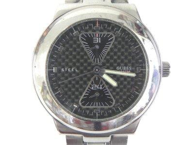 雙眼錶 [GUESS 185447G3] GUESS 雙眼[碳纖維黑面]時尚錶/軍錶