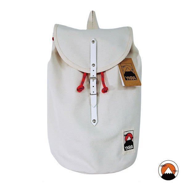 YKRA 匈牙利手工筒狀帆布包 – 天然白