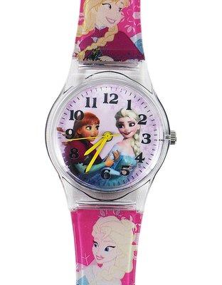 【卡漫迷】冰雪奇緣 卡通錶 L ㊣版 Frozen 艾莎 Elsa 安娜 Anna 公主 手錶 兒童錶 女錶 260 元