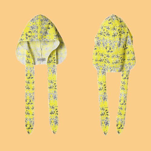 JCI:Salute 出品 Du-rag 黃色變形蟲黑人綁帶頭巾 Bandana / Kapital / ASAP