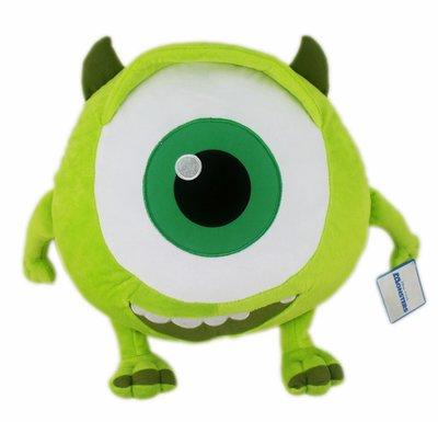 【卡漫迷】 大眼仔 抱枕 42cm ㊣版 絨毛 娃娃 午休 午睡 午安枕 靠墊 靠枕 怪獸大學 Mike Monster