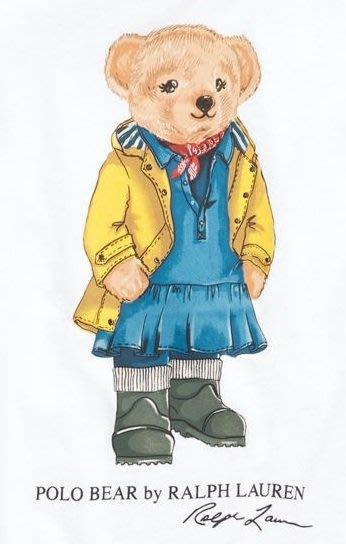 Ralph Lauren POLO 限量polo熊 大女童款 印花 T恤 現貨 白