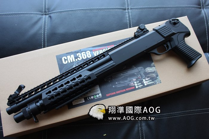 【翔準國際AOG】CYMA KEY MOD 短版 霰彈槍 散彈槍 空氣槍 拉一打三 實戰運動版 368BK