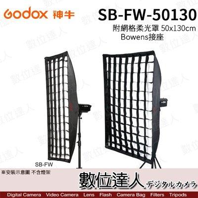 【數位達人】Godox 神牛 SB-FW-50130 50x130cm 柔光罩 附 Bowens接座 網格