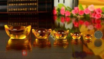 【準提無意間】買10贈1 * 黃水晶元寶 2.5公分 小號  琉璃  養晶  開運招財進寶擺飾 可放福袋