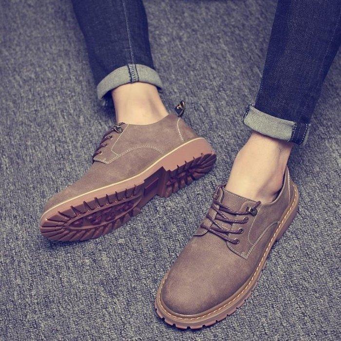 男鞋春夏季潮鞋新款馬丁靴低幫英倫韓版潮流百搭個性學生皮鞋