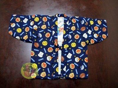 【JPGO日本購】日本進口 可愛麵包超人保暖浴衣~現貨 90CM#857-1