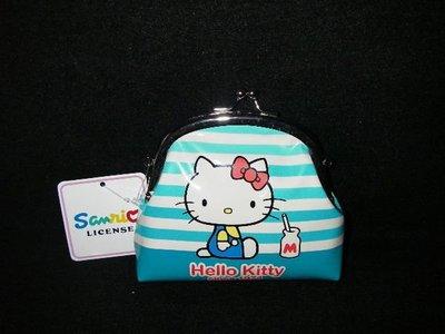 全新Hello kitty 藍色 口金包 復古 零錢包 35週年紀念款 (只有一個)