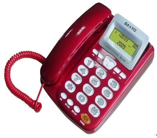 SANYO 三洋可搖頭式來電顯示有線電話機 TEL-805