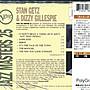 *真音樂* STAN GETZ & DIZZY GILLESPIE / JAZZ MAST 全新 K17314 (殼破)