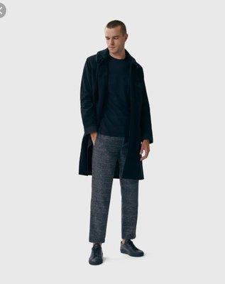 【傑森精品】美國輕奢時尚品牌 Bldwn 秋冬 厚實保暖 法蘭絨 羊毛呢 英倫格紋 格子 合身 錐形 小腳 休閒褲