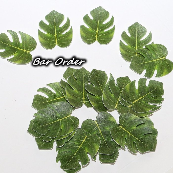 Bar Order~專業調酒/烘培用 糯米紙插飾綠樹葉 72片裝 超低價現貨
