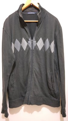 【二手衣櫃】HANG TEN 時尚簡約修身棉質立領外套 夾克外套 休閒男裝 秋季男款保暖風衣外套 潮流長袖上衣 飛行外套