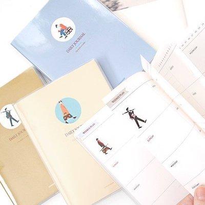 ♀高麗妹♀韓國 2young SCHEDULE DIARY 倫敦旅行者 週記事行事曆/萬年手帳(4色選)預購