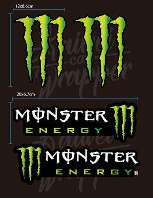 【凱威車藝】Monster Energy 魔爪 鬼爪 個性貼紙 安全帽貼紙