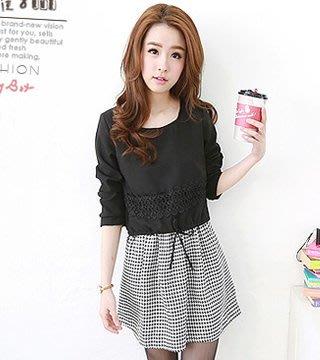 韓版連衣裙(單色千鳥格) IL1412672170 J-11589