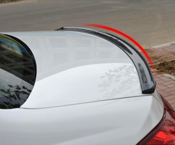 【免運】通用型汽車尾翼進口3D碳纖紋尾翼汽車改裝小~『金色年華』