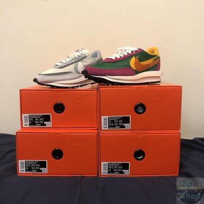 【Spil_shop】現貨 Nike sacai LDwaffle 灰白 / 桃綠 限量 聯名
