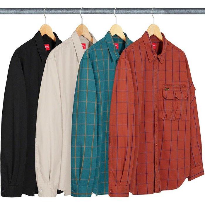 【紐約范特西】預購 Supreme FW20 Twill Multi Pocket Shirt 長袖襯衫