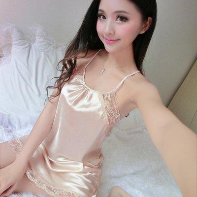 睡裙性感吊帶夏季性感蕾絲女人誘惑睡衣大碼露背家居服短裙ALS-JP151
