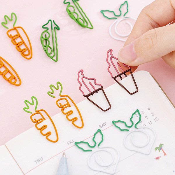 蘿蔔豌豆冰淇淋迴紋針 【JC3498】《Jami Honey》