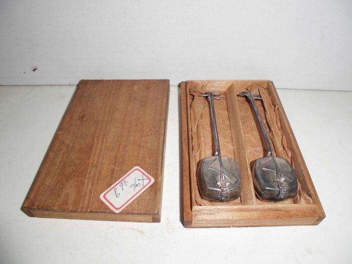 純銀950(STERLING950)手工製二胡(附木盒)