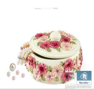 粉紅玫瑰精品屋~  田園珠寶首飾盒 創意家居生活用品 首飾收納盒~現貨+預購