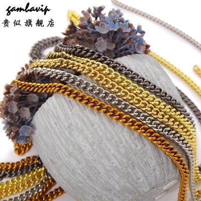 禧禧雜貨店-女士包包帶子 單肩包配件金色鏈條銅鏈條斜挎包帶子金屬包扭鏈