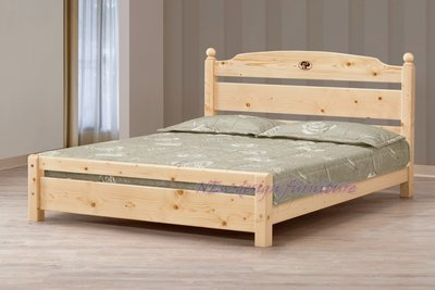 【N D Furniture】台南在地家具-簡單主義松木實木可調高低5尺雙人床架/床檯MC